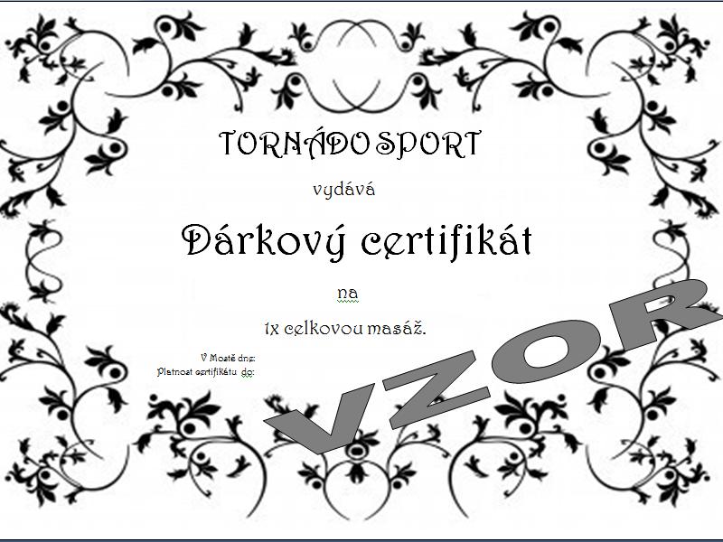 Č.6 Dárkový certifikát: Celková masáž.